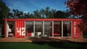 世界のコンテナハウスニュースNo.2 赤いコンテナハウス