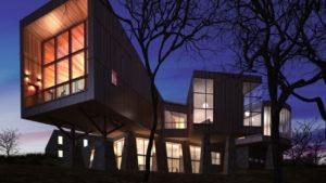 最近のコンテナハウスは、非常にオシャレでファッショナブルな建築物