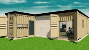 コンテナパース 建築予定中のガレージハウスです。