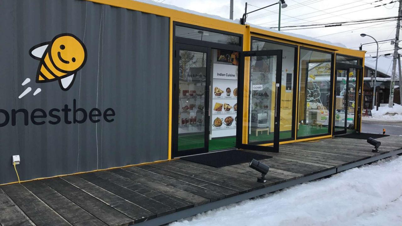 店舗型コンテナハウス honestbee