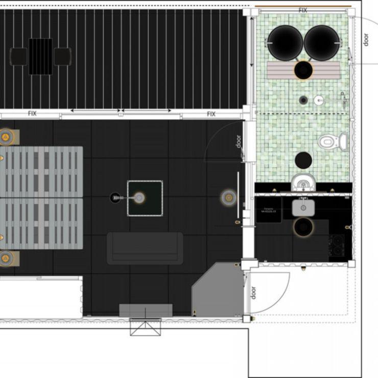 コンテナハウスのコテージ 図面