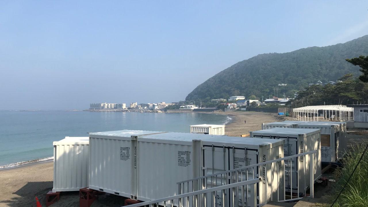 鎌倉由比ガ浜に今年もコンテナハウスの海の家が登場