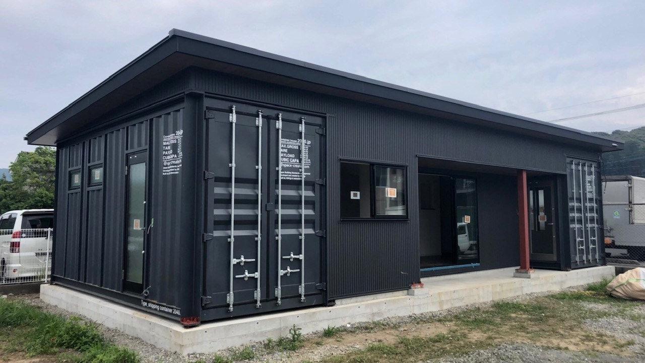 宮崎県内にコンテナハウスのオフィスが完成